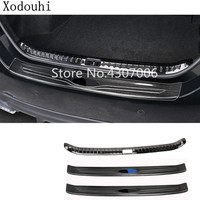 car external rear inner bumper Protect trunk trim cover Stainless Steel plate pedal For Toyota Corolla Altis 2017 2018 2019