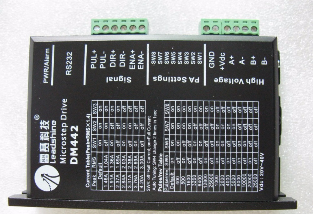 Free shipping Leadshine Digital Stepper Motor Driver <font><b>DM442</b></font> based on DSP design fit nema17 to nema 23 motor CNC stepper system image