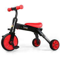 Portable 2 In 1 Folding Tricycle Riding Slide Toy For Kids Balance Car Deformable Dual Mode Bike For Baby Outdoor Ride On Toys