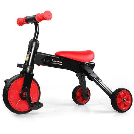 Portable 2 en 1 pliant Tricycle équitation toboggan jouet pour enfants équilibre voiture déformable double Mode vélo pour bébé balade en plein air sur jouets