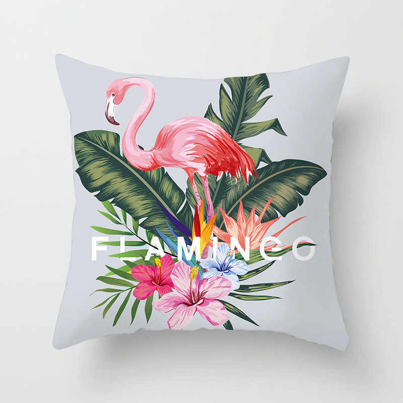 Fuwatacchi тропическая растительная наволочка с принтом летний стильный чехол для подушки фламинго и ананасы декоративная наволочка для домашнего дивана
