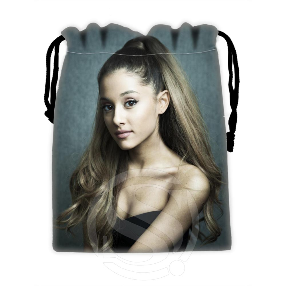 H-P615 Custom Ariana Grande #12 Drawstring Bags For Mobile Phone Tablet PC Packaging Gift Bags18X22cm SQ00806#H0615
