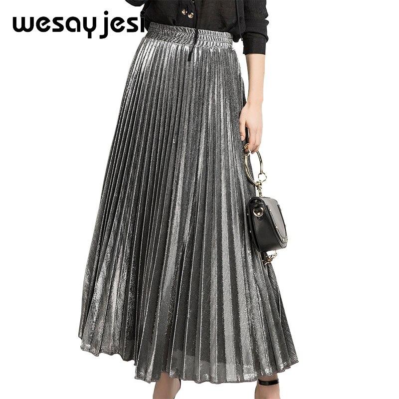 0888203a0 Aliexpress.com : Buy Gold ruffle skirts Women plus size S XXL school skirt  harajuku style autumn 2018 women A line Ankle length High Waist Summer from  ...