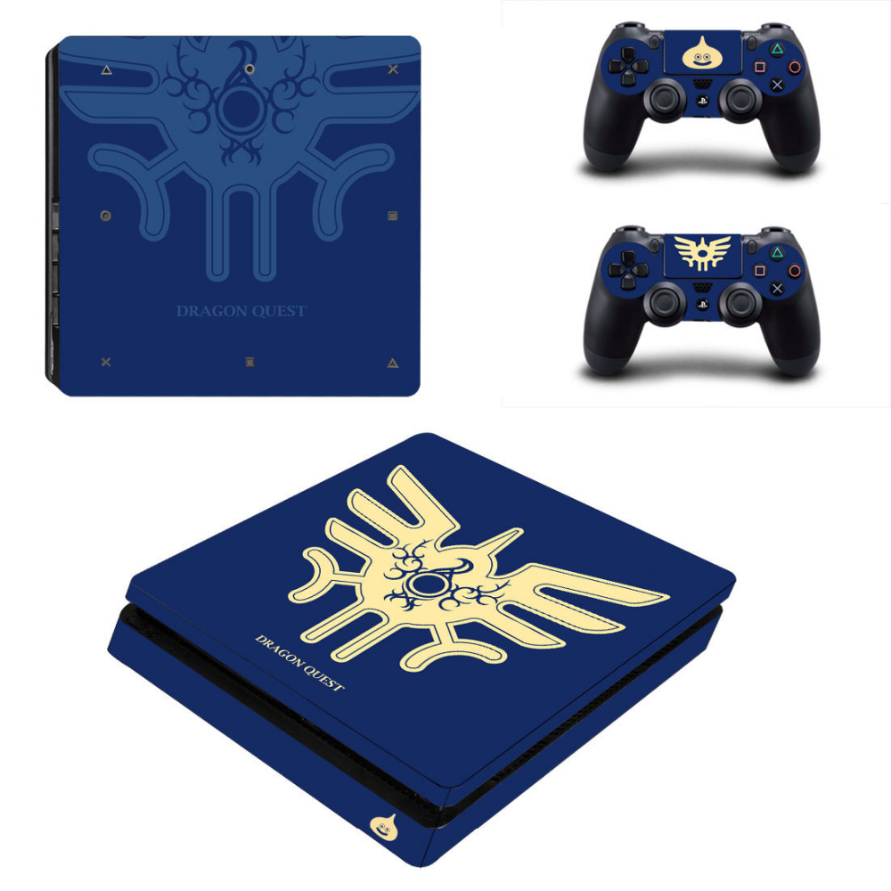 Game Dragon Quest PS4 Slim Skin Sticker Decal for Sony PlayStation 4 Console and 2 Controller PS4 Slim Skins Sticker Vinyl
