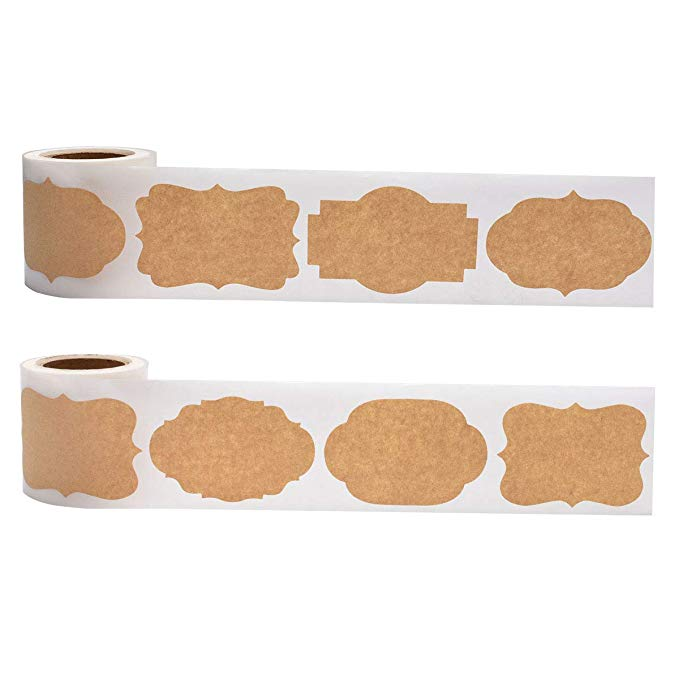 Купить с кэшбэком 2*1.2inch Blank Stickers 300pcs per roll labels stickers scrapbooking for Package and wedding decoration DIY stationery sticker