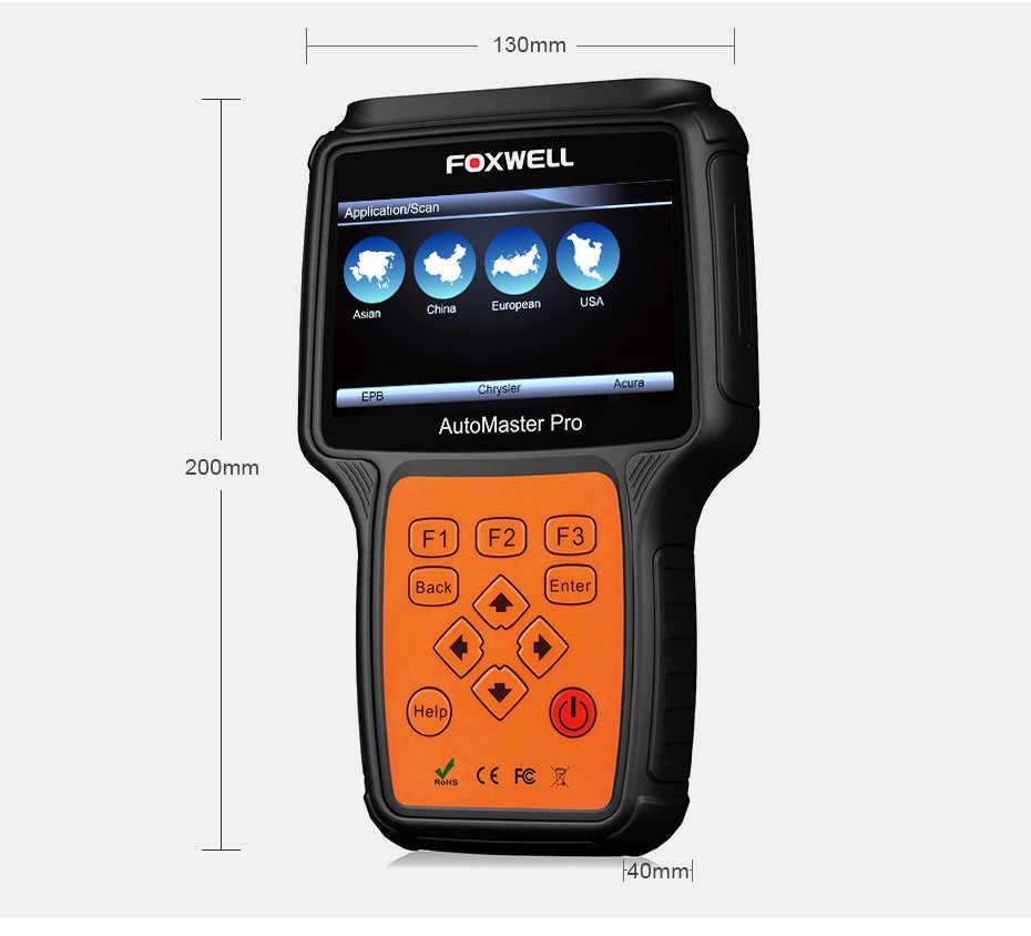 Foxwell NT624 Pro OBD2 OBDII Автомобильный сканер полная система передачи двигателя ABS SRS EPB сброс масла ODB2 автомобильный диагностический инструмент