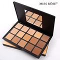 MISS ROSE Professional 15 Color Concealer Palette Faical Makeup Base Concealers Face Powder Dark contour palette 7003-007N