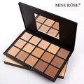 Miss rose professional 15 paleta de cores corretivo base de maquiagem corretivo pó facial contour palette escuro 7003-007n faical