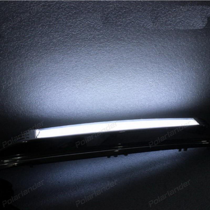1 pair Car Styling led Fog Lamp DRL for T/oyota R/AV4 2014-2015 LED DRL Daytime Running Light Parking Accessories