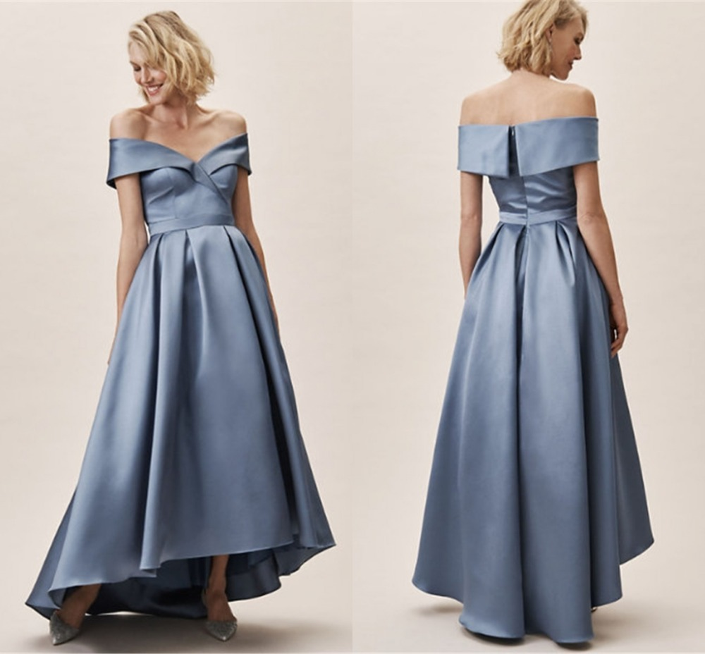 Sexy Off Shoulder A-line Bridesmaid Dresses 2019 With Ruffled Long Dress For Wedding Party For Woman Robe Demoiselle D'honneur
