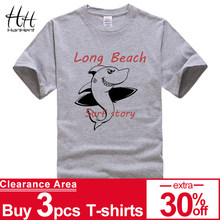 HanHent Beach Style Summer Mens Casual Short Sleeve Anime Cute Shark Funny T-Shirts Fashion Street Wear Fitness Clothing Tshirt(China)