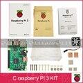 C Raspberry Pi 3 starter kit-raspberry pi 3 modelo b con wifi y azul y frambuesa caso pi con el ventilador y el calor fregadero
