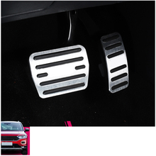 lsrtw2017 Aluminum alloy car accelerator brake pedal for volkswagen t-roc 2017 2018 2019 2020 lsrtw2017 titanium black car armrest rear anti kick pedal for volkswagen t roc 2017 2018 2019 2020