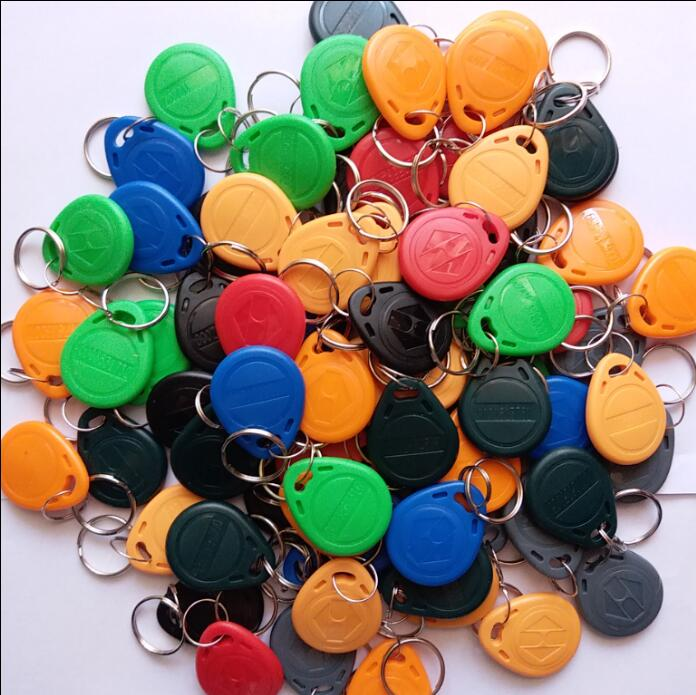50pcs/Lot 8 Color RFID Tag TK4100 EM4100 125KHz Proximity Keyfobs Tags RFID Card For Access Control Time Attendance (read-only)