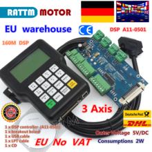 DE ship free VAT 3 Axis DSP 0501 CNC wireless channel  A11 controller handle remote for router Engraving Milling