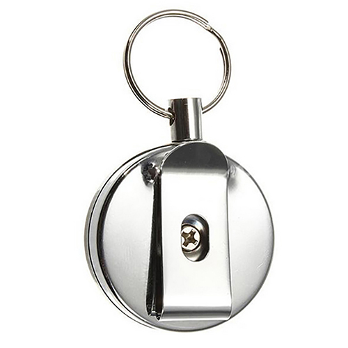 Stainless Steel Retractable Key Recoil Ring Pull Key Chain Belt Clip Keychain Case With Recoil Key Ring Hanging Keys Fashion