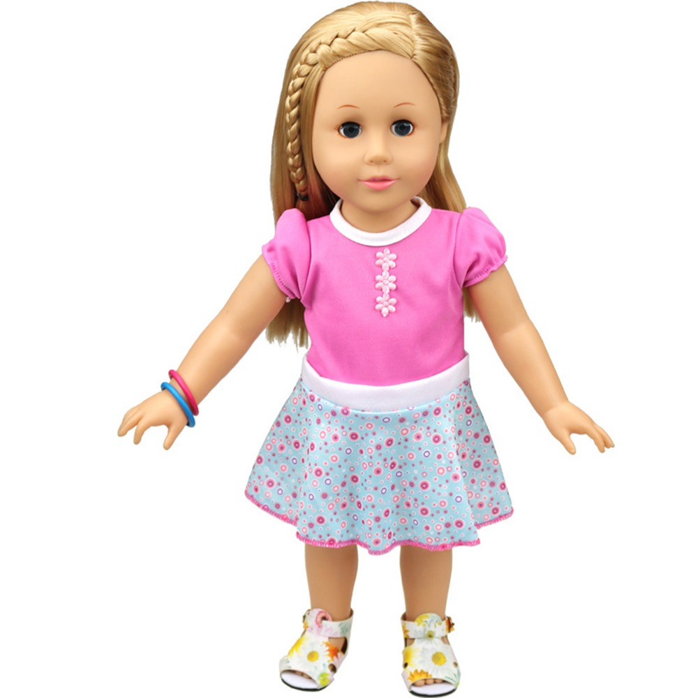 new baby girl Doll Clothes Dress Accessories For 18 inch Our Generation American Girl Doll clothes for baby born my generation doll clothes multicolor princess dress doll clothes for 18 inch dolls american girl doll accessories 15colors d 14