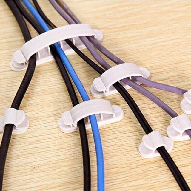 10 stücke/1 Racks Klebstoff Haushalts Kabel Halter Regale ...
