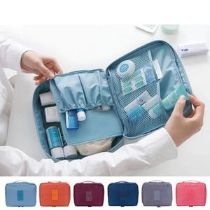 Image 3 - WBBOOMING Hot Sale Cosmetic Storage Bag Travel Bag Makeup Organizer Skincare Storage Zipper Bag 100% Good Rating 14 Colors
