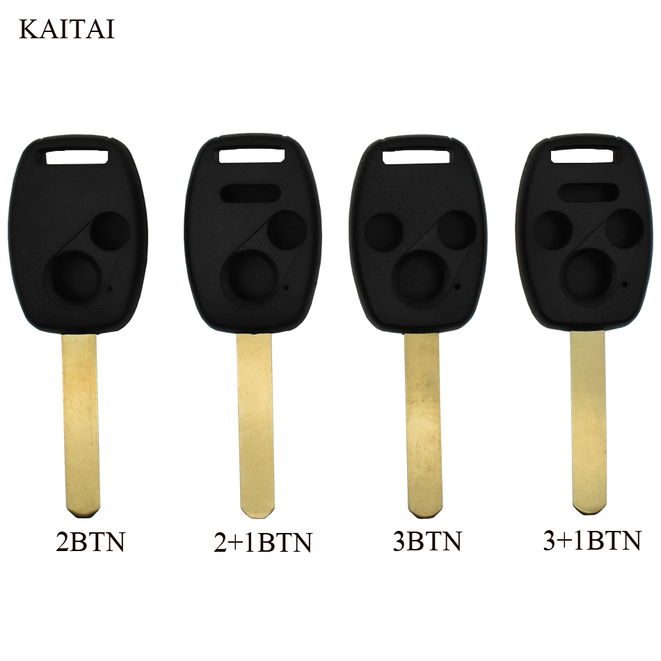 KAITAI Car Remote Key Shell For HONDA Accord Civic CRV Pilot For 2007 2008 2009 2010 2011 2012 2013 Key Fob dandkey 2 buttons remote key shell fit for honda accord civic crv pilot fit replacement fob 2 btn key case