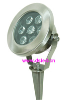 Aço inoxidável  de alta potência  boa qualidade 7 W LEVOU ao ar livre luz com spike  CONDUZIU a luz do jardim  110VAC/220VAC  DS-10-41A-7W