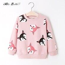 Весенне-осенние свитера для мальчиков и девочек; милый детский пуловер с принтом лисы; хлопковое пальто с длинными рукавами; Одежда для мальчиков и девочек