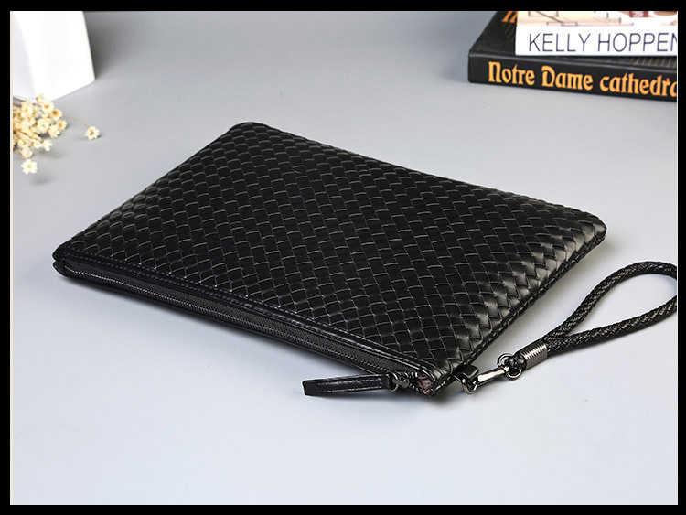 22ef6f5e83ba ... Badenroo брендовая мужская сумка из кожи плетеная вязаная сумка-клатч  сумка на плечо кошелек удобная ...