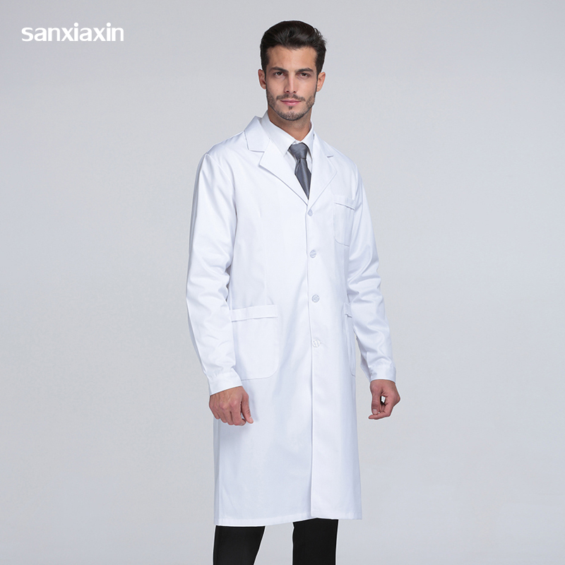 Sanxiaxin Medical Uniforms Clothes Spot White Coats Medical Spa Hospital Gown Lab Coat Nurse Scrub Uniform Pharmacy Veterinary