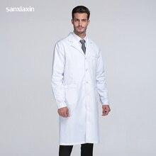 Sanxiaxin медицинская униформа Одежда Пятно белые пальто медицинская спа больница халат лабораторное пальто Медсестры скраб Униформа аптека ветеринарный