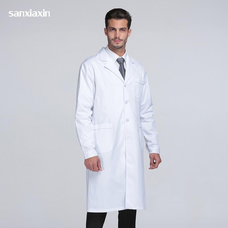 Sanxiaxin Medical Uniforms Clothes Spot White Coats Medical Spa Hospital Gown Lab Coat Nurse Scrub Uniform Pharmacy Veterinary