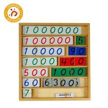 Educational Montessori Baby Toys Math Wooden Bank Game Early Children Count Numbers Matching Preschool Training Games Toys MA075 цена в Москве и Питере