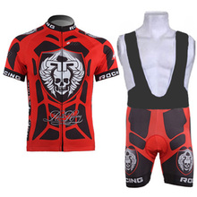 Man Cycling Jersey Skull Short Sleeve Bike Bicycle Clothing Mountain Maillot