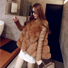 New  Arrival Winter Warm Fashion Women  Coat Fur Vest High-Grade Faux Fur Coat Fox Fur Long Vest