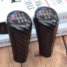 Carbon Fiber 5 6 Speed Manual Gear Stick Shift Lever Sports  For BMW E30 E32 E34 E36 E38 E39 E46 E53 E60 E63 E83 E84 E87 E90 5 6 speed real leather gear shift knob with m logo for bmw 1 3 5 6 series e30 e32 e34 e36 e38 e39 e46 e53 e60 e63 e83 e84 e87