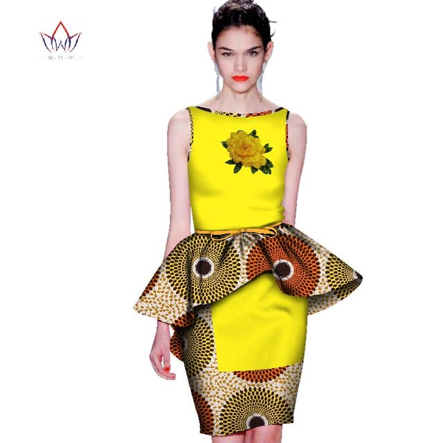 Women Suits Prairie Chic african dashiki dresses cotton 2 Piece african clothes for women o-neck african print clothing WY2658