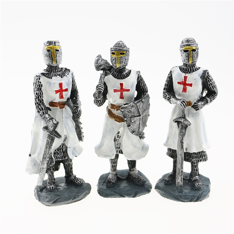 10Cm Peak,center Ages Knights Templar 3D Stereoscopic Resin Ornament,malta Souvenirs(Hong Kong,china)