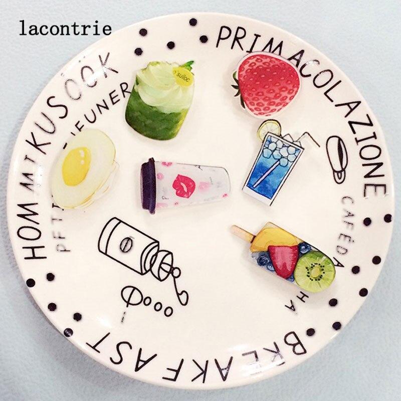 1 PCS Delicious font b Food b font Shaped Badges Free Shipping Acrylic Pin Badge Backpack