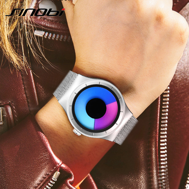 SINOBI Science Fiction Creative femmes montres de luxe dames Montre à Quartz femmes Montre Femme 2019 mode horloge Relogio Feminino