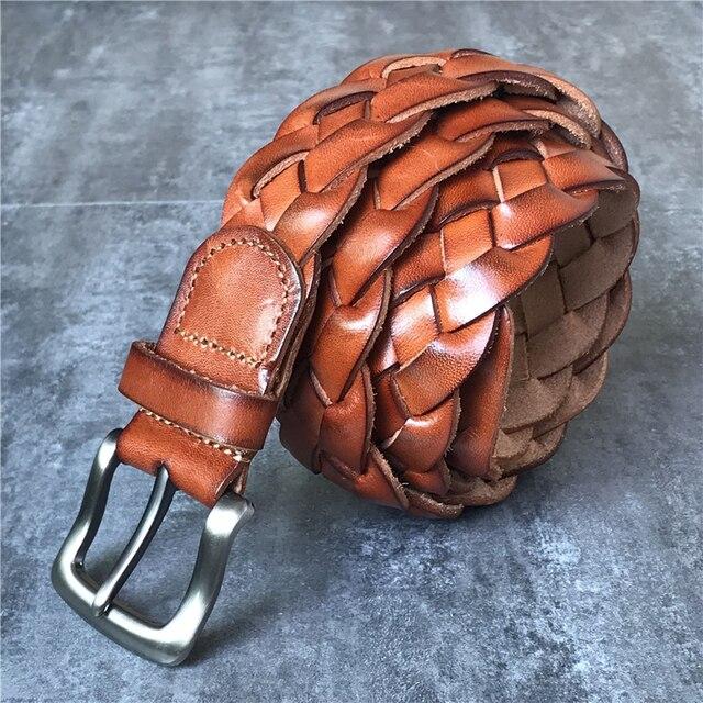 Braided Belt Men Luxury Genuine Leather Men Belt Ceinture Homme Wide Women Belt Ceinture Femme Belts For Women Strap MBT0508