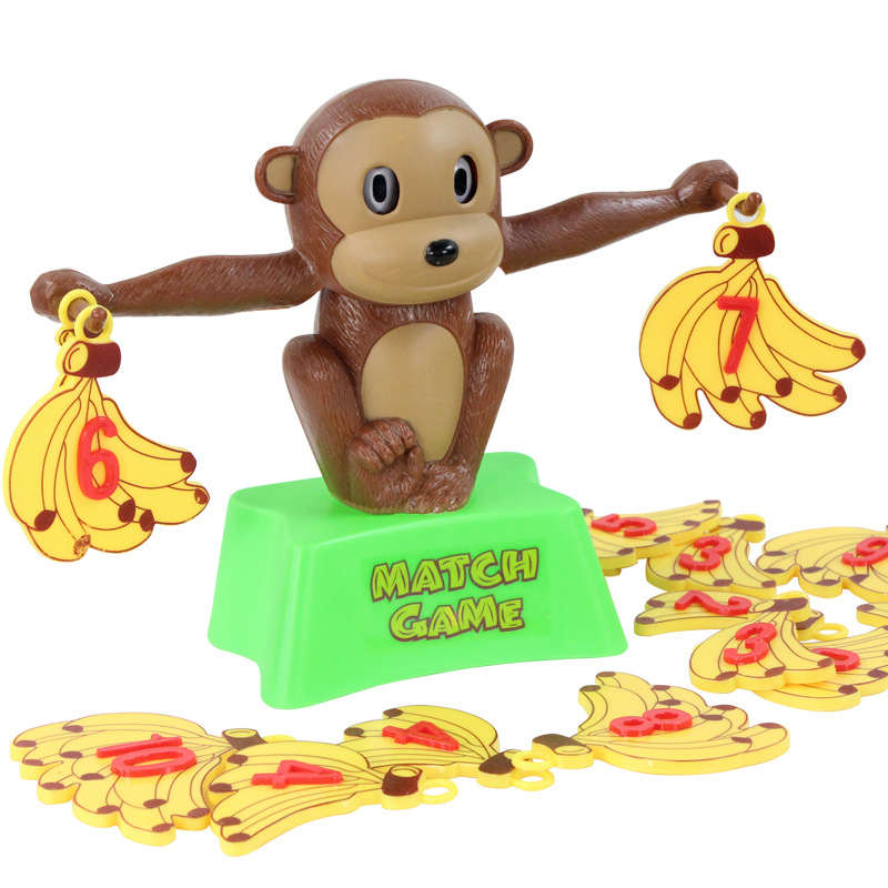 Monkey Match Math Balancing Scale game Board Children Educational Toy to Learn add and subtract Number Balance Game