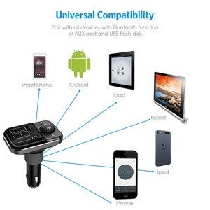 Image 4 - BT72 carica Rapida 3.0 Porte USB Doppio Caricabatteria Da Auto Senza Fili di Bluetooth FM Trasmettitore A mano libera MP3 Lettore Radio Adattatore modulatore