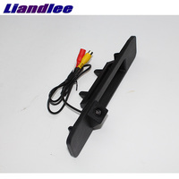 LiandLee Car Trunk Handle Rear View Reversing Reverse Parking Backup Camera For Mercedes Benz GLE Class MB W166 C292 2015~2018