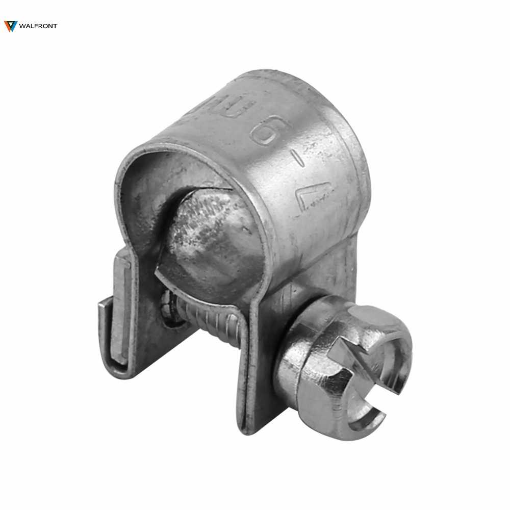 10pcs 6mm-20mm נירוסטה מיני דלק קו צינור צינור קלאמפ קליפ אופציונלי גודל עבור אוויר צינור מים צינור דלק צינור סיליקון