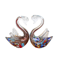 Cute Swan Crystal Glass Ornaments Animal Figurines Crafts Christmas Home Decoration Gifts Souvenirs