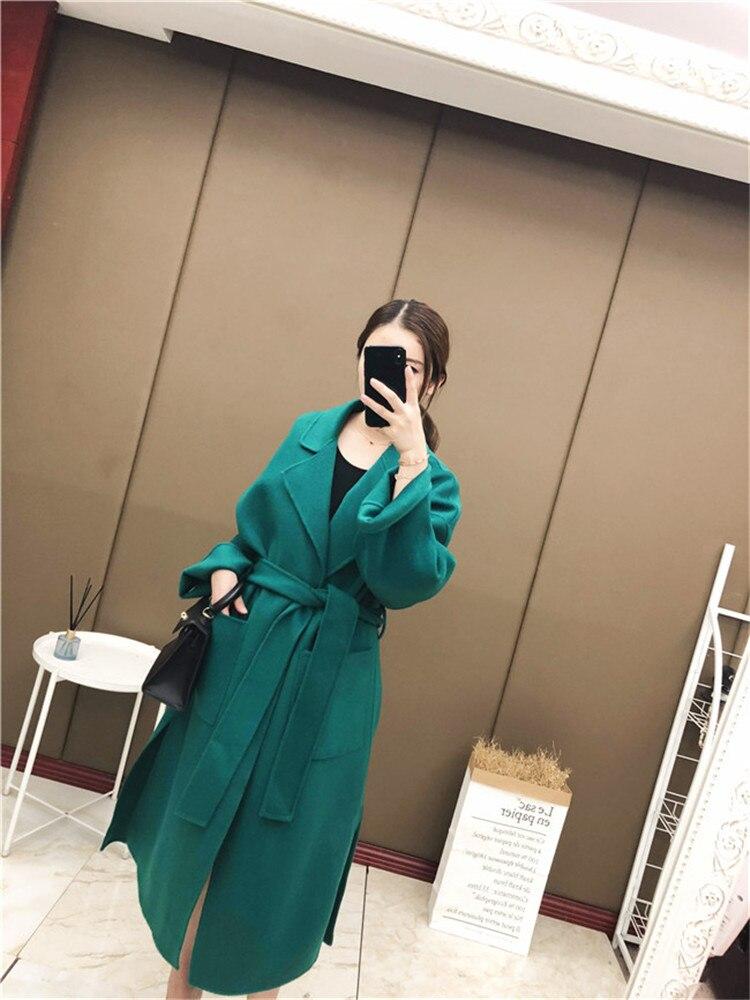 Femmes Manteau Long Cachemire Double 2018 Coréenne Laine Main Modèles 1 La cousu face De Nouveaux Version D'explosion w6zCPw7Oq