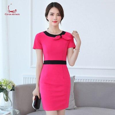 Cosmetician's Uniform 2018 Spring/summer Han Edition Slim Foot Sauna Dress Uniform Jewelry Professional Dress Women's Wear