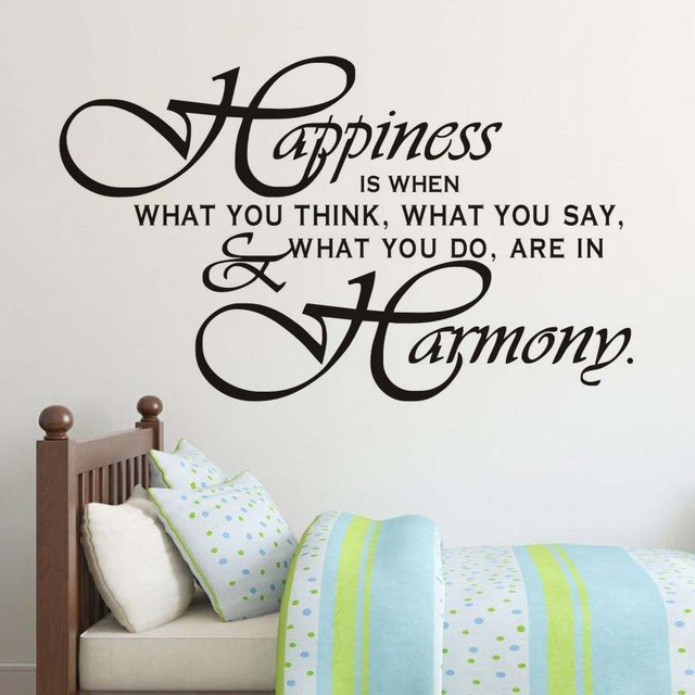 Harmony Life Quotes Family Wall Sticker Positive Sayings Vinyl Wall Art  Adesivo De Parede For Living