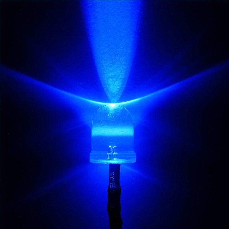 """50 шт. синий 10 мм Предварительно проводной 3-12 V 20 см светодиоды светодиод круглая вершина светодиодов свет лампы для автомобиля """"Сделай сам"""