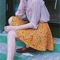 SKT027 Новая Весна высокая талия Твердые Мяч Плиссированные юбки Harajuku Мори девушки Онлайн моряк юбка Плюс Размер Японский школьная форма