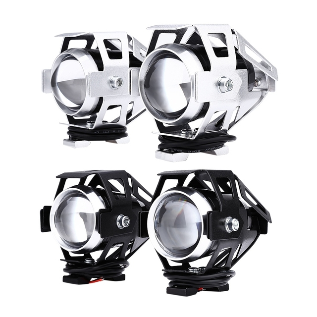 2pcs Motorcycle Headlight 125W 12V 3000LM U5 LED Transform Spotlight Water Resistant High Quality Aluminum Alloy